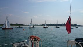 Segelbåtar i UK Royaltyfria Foton