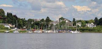 Segelbåtar på Derwentwater Royaltyfri Bild