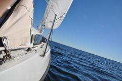 Segelbåtdetaljer Fotografering för Bildbyråer