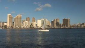 Segelbåten seglar lager videofilmer