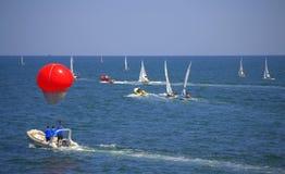 Segelbåtkonkurrens Royaltyfria Foton