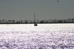 Segelbåtkontur Fotografering för Bildbyråer
