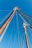 Segelbåtmast och rep Royaltyfri Fotografi
