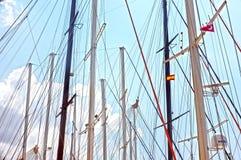 Segelbåtpoler Royaltyfri Fotografi