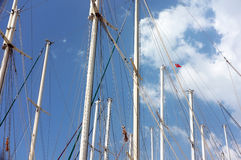 Segelbåtpoler Arkivbilder