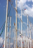 Segelbåtpoler Royaltyfri Foto