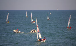 Segelbåtregatta, Burgas Arkivfoton