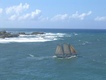 segelbåtsikt Royaltyfri Bild