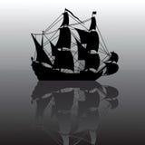 segelbåtsilhouette Royaltyfria Foton