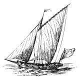 Segelbåtvektorillustration vektor illustrationer