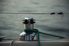 Segelbåtvinsch Royaltyfri Bild