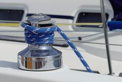 Segelbåtvinsch Royaltyfri Foto