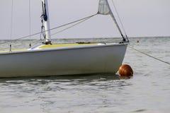 Segelboot angekoppelt, Ebbe, adriatisches Italien Lizenzfreies Stockbild
