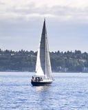 Segelboot auf der Bucht Stockbilder
