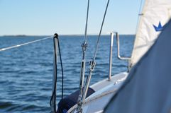 Segelboot-Details Stockfotografie