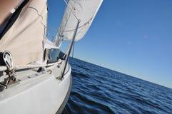 Segelboot-Details Stockbild