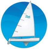 Segelboot. Finnkategorie Stock Abbildung