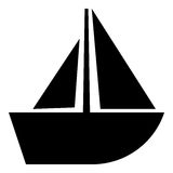 Segelboot Glyphikone Lizenzfreie Abbildung