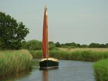 Segelboot Horsey bloßes Norfolk Broads Lizenzfreies Stockfoto