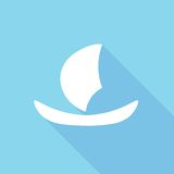 Segelboot-Ikone Lizenzfreies Stockfoto