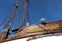 Segelboot im Trockendock Lizenzfreie Stockfotos
