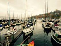 Segelboot-Jachthafen Stockbilder