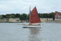 Segelboot in La Rochelle, Frankreich Lizenzfreies Stockfoto