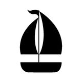 Segelboot lokalisiertes Ikonendesign Lizenzfreie Stockfotografie
