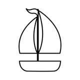 Segelboot lokalisiertes Ikonendesign Lizenzfreies Stockbild
