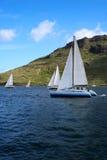 Segelboot-Rennen 1 Stockbild