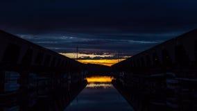 Segelboot-Sonnenuntergang auf Puget Sound stock footage