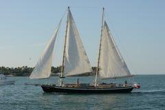 Segelboot unter Segel Stockfoto