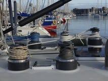 Segelbootdetails Stockbild