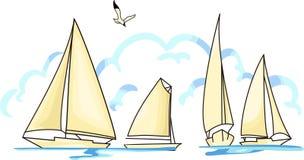 segelboote Stockbild
