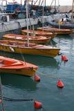Segelboote angekoppelt im Hafen - altes Jaffa, Israel Lizenzfreie Stockfotos