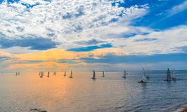 Segelboote bei Frankston, Australien lizenzfreies stockfoto