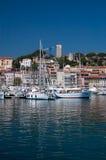 Segelboote in Cannes Lizenzfreies Stockbild