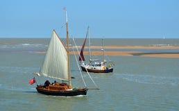 Segelboote Deben-Mündung Stockfotografie