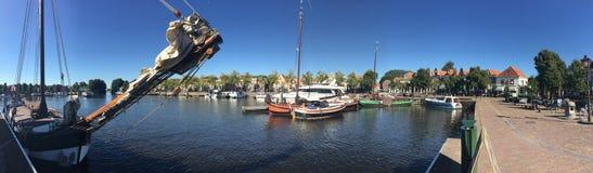 Segelboote im Hafen von Blokzijl Stockbilder