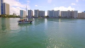 Segelboote im Miami Beach stock video footage