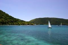 Segelboote im tropischen Ozean stockbild
