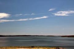 Segelboote im Wasser Stockbild