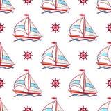 Segelboote und Räder Stockbild