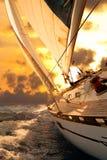 Segelbootgetreide während des Regatta Lizenzfreies Stockbild