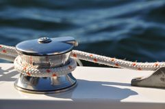 Segelboothandkurbel Lizenzfreie Stockfotos