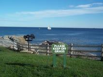 Segelbootkap Elizabeth Portland Maine Stockbilder