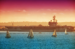 Segelbootrennen San Diego Stockfotos