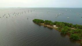 Segelboots-Luftvideoüberführung stock video footage