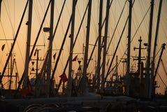 Segelbootsteuerknüppel Stockbild