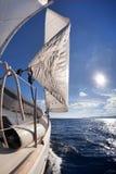 Segelbootweitwinkelansicht Stockfotografie